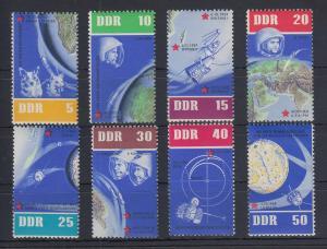 DDR 1962 5 Jahre sowjetische Weltraumfahrt Mi.-Nr. 926-933 Einzelmarken **