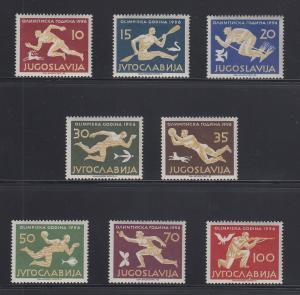 Jugoslawien 1956 Olympische Spiele Mi.-Nr. 804-811 Satz kpl. postfrisch **