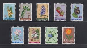Jugoslawien 1961 Blumen und Pflanzen Mi.-Nr. 943-951 Satz kpl. postfrisch **