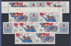 DDR 1984 Jugendfestival Berlin Mi.-Nr. 2878-79 kpl. Garnitur 6 Zusammendrucke **