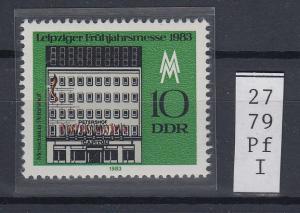 DDR 1983 Frühjahrsmesse 10 Pfg. Mi.-Nr. 2779 mit Plattenfehler Hauswand offen **