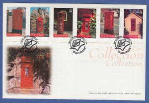 Isle of Man Ersttagsbrief / FDC 1999 Mi.-Nr. 801-806 Briefkästen