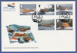 Isle of Man Ersttagsbrief / FDC 1999 Mi.-Nr. 791-95 Rettungsgesellschaft