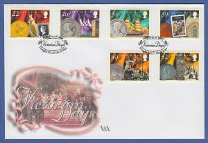 Isle of Man Ersttagsbrief / FDC 2001 Mi.-Nr. 900-05 Todestag v. Königin Viktoria