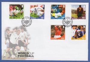 Isle of Man Ersttagsbrief / FDC 2002 Mi.-Nr. 967-72 Fußball WM Japan u. Südkorea
