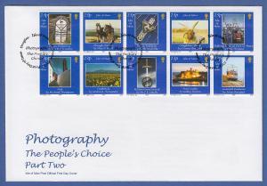Isle of Man Ersttagsbrief / FDC 2002 Mi.-Nr. 994-1003 Fotografien aus Man