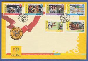 Isle of Man Ersttagsbrief / FDC 2002 Mi.-Nr. 960-65 Manchester Spiele