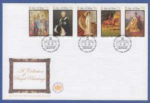 Isle of Man Ersttagsbrief / FDC 2002 Mi.-Nr. 954-58 Thronbesteigung
