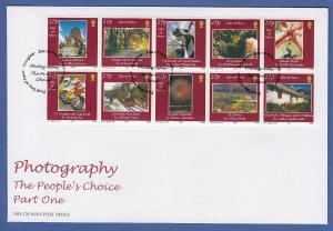 Isle of Man Ersttagsbrief / FDC 2002 Mi.-Nr. 984-93 Fotografien aus Man