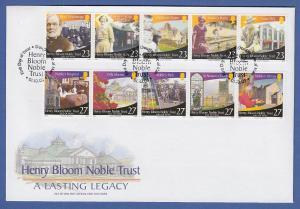 Isle of Man Ersttagsbrief / FDC 2003 Mi.-Nr. 1074-83 Henry Bloom
