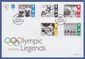 Isle of Man Ersttagsbrief / FDC 2004 Mi.-Nr. 1138-42 Athen: Olympiasieger
