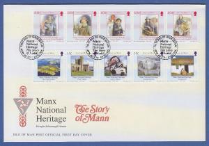 Isle of Man Ersttagsbrief / FDC 2004 Mi.-Nr. 1143-52 Nationales Erbe