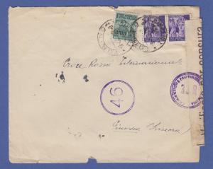 Italien April 1945 interessanter Zensur-Brief von Turin nach Genf (Schweiz)
