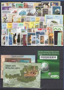 Österreich Briefmarken-Jahrgang 2011 komplett postfrisch