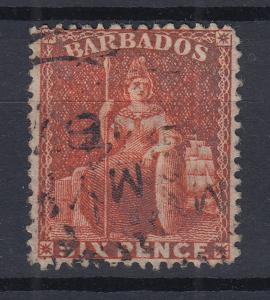 Barbados 1872 sitzende Britannia Mi.-Nr. 19C sauber gestempelt