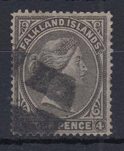 Falklandinseln 1879 Queen Victoria Mi.-Nr. 2 sauber gestempelt