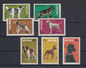 Rumänien 1981 Hunde Mi.-Nr. 3762-3768 Satz 7 Werte **
