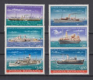 Rumänien 1981 Schiffe (Donauschiffahrt) Satz 6 Werte komplett **