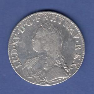 Frankreich Ludwig XV. Taler 1734 I in guter Erhaltung