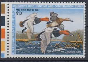 USA 1988 Gebührenmarke migratory bird hunting and conversation stamp 10$ **