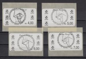 Norwegen 1999 Postemblem Sonderdruck Satz 4 Werte Mi.-Nr. 4 So 1-4 Sonder-O EXPO
