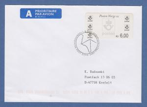 Norwegen 1999 Postemblem Sonderdruck Wert 6,00 Mi.-Nr. 4 So 3 FDC Sonder-O EXPO