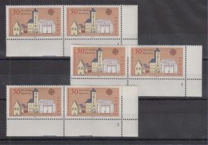Bundesrepublik 1978 EUROPA Mi.-Nr. 970 je ER-Paar mit Formnummer 1, 2 und 3 **