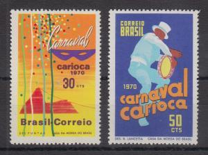 Brasilien 1970 Carneval carioca Rio de Janeiro Mi.-Nr. 1247-1248 **