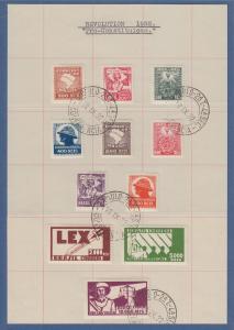 Basilien 1932 Post der Aufständischen im Staat Sao Paulo  kpl. Satz Mi-Nr 376-86