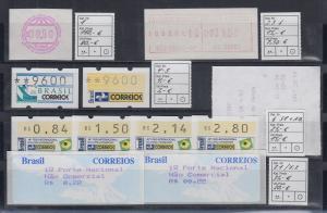 Brasilien 1979-1998 Automatenmarken kleine Sammlung ** mit UPU-Sonder-ATM ect.