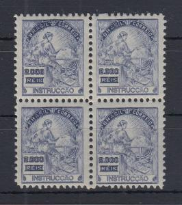 Brasilien 1920 Freimarke 2000R Erziehung Mi.-Nr. 229A Viererblock **