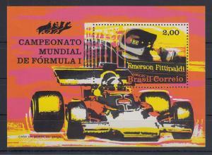 Brasilien 1972 Blockausgabe Formel I Weltmeister Emerson Fittipaldi Block 31 **