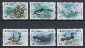 Dominica 1979 Meeresfauna Mi.-Nr. 630-35 Satz 6 Werte kpl. **