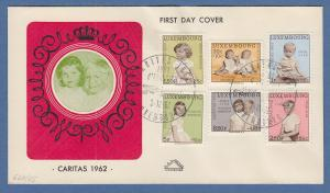 Luxemburg Caritas 1962 Mi.-Nr. 660-665 auf FDC