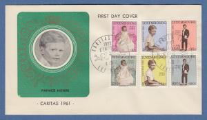Luxemburg Caritas 1961 Mi.-Nr. 649-654 auf FDC