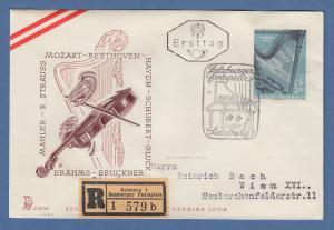 Österreich 1960 Sondermarke Weltreise Wiener Philharmoniker Mi.-Nr. 1071 auf FDC