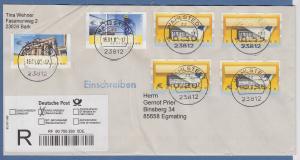 R-Brief mit 6 ATM-Fehlverwendungen, gelaufen 2009 von WAHLSTEDT nach EGMATING
