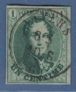 Belgien 1858 1C-Wert  Mi.-Nr. 6II  sauber gestempelt ANVERS