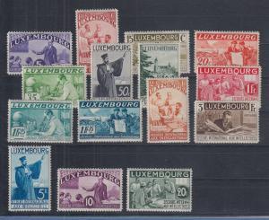 Luxemburg 1935 Hilfswerk für Interlektuelle Mi.-Nr. 266-280 kpl Satz 15 Werte **
