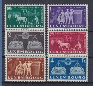 Luxemburg 1951 Europäische Einigung  Mi.-Nr. 478-483 kpl. Satz 6 Werte **