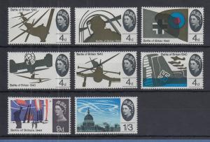 Großbritannien 1965 Luftschlacht von England (1940) Mi.-Nr. 394-401 x Satz **