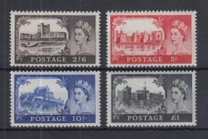Großbritannien 1967-68 Freimarken Burgen ohne Wz Mi-Nr. 477-480 Satz 4 Werte **