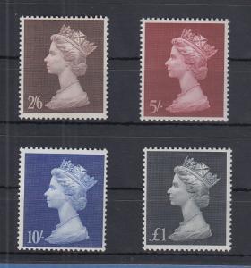 Großbritannien 1969 Freimarken Queen Elizabeth Mi.-Nr. 507-510 Satz 4 Werte **