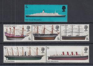 Großbritannien 1969 Schiffe Mi.-Nr. 498-503 Satz 6 Werte **