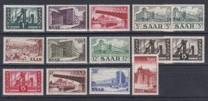 Saar 1952-55 Freimarken Ansichten aus dem Saarland Mi.-Nr. 319-337 Satz kpl. **