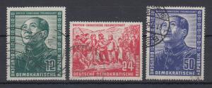 DDR 1951 Deutsch-Chinesische Freundschaft Mi.-Nr. 286-288 kpl. Satz gestempelt