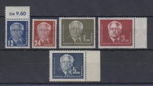DDR 1950-51 Wilhelm Pieck Mi.-Nr. 251-55 ** kpl. Satz 5 Werte