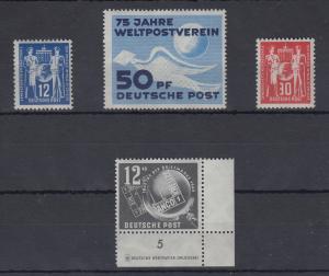 DDR 1949 kompletter Jahrgang Mi.-Nr. 242-245  **. Erste Briefmarken der DDR !