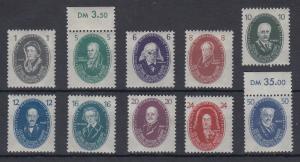 DDR 1950 Akademie der Wissenschaften Mi.-Nr. 261-70 Satz kpl. **