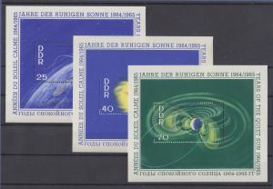 DDR 1964 Raumfahrt Astronomie Jahr der ruhigen Sonne Mi.-Nr. Bl. 20-22 **